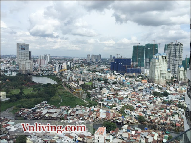 City Garden apartment penthouse for rent elegant furniture Binh Thanh District