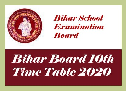 Bihar Board 10th Time table 2020, Download PDF BSEB Matric Routine