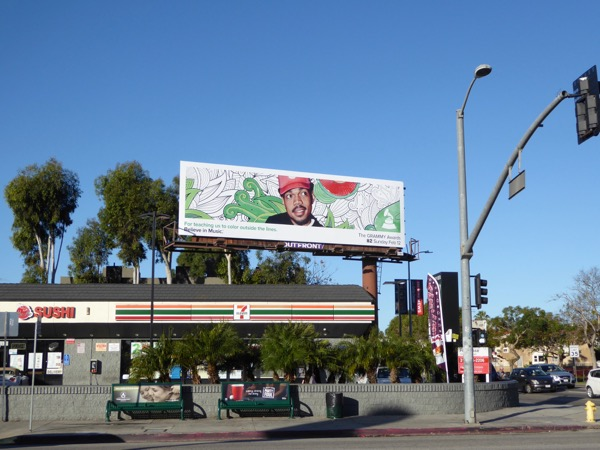 Chance Rapper 59th Grammy Awards billboard