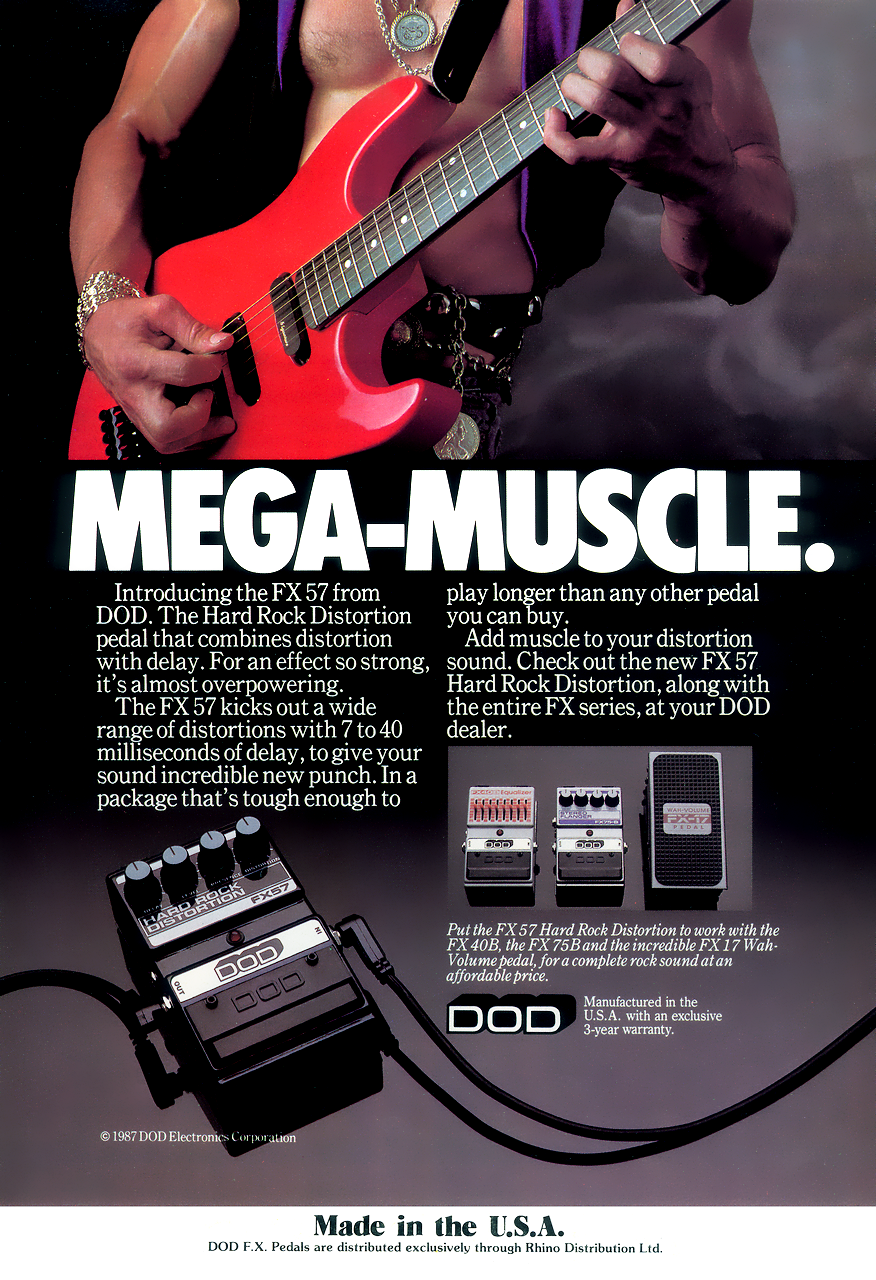 DOD FX57 Hard Rock Distortion - 1987