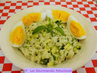 Comment faire une recette de riz en salade ?