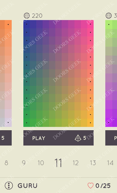 I Love Hue Guru Level 11 Solution, Cheats, Walkthrough