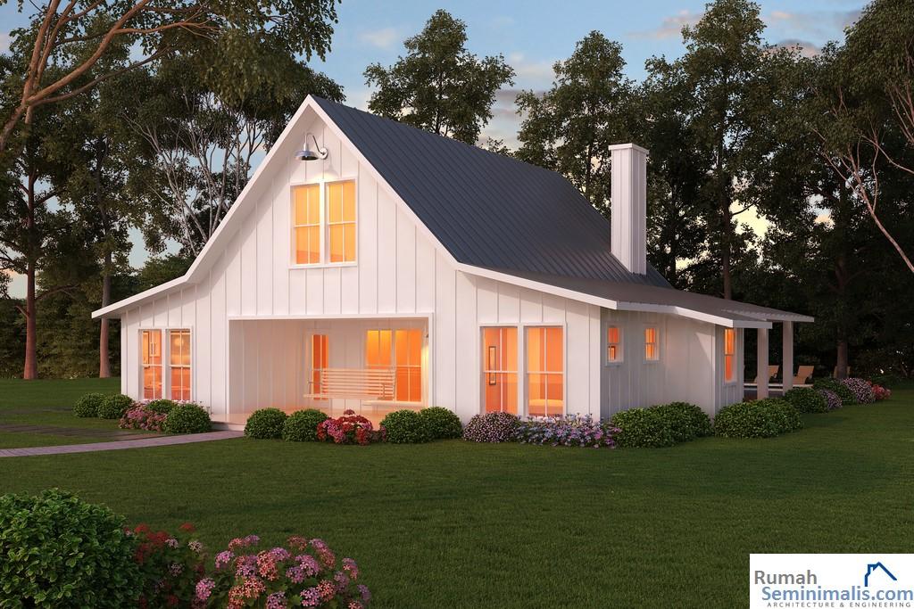 Denah Model Desain Gambar Rumah Minimalis Idaman Modern Tipe 36