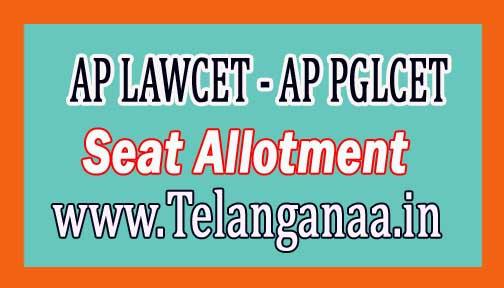 AP LAWCET - AP PGLCET Seat Allotment Order 2018