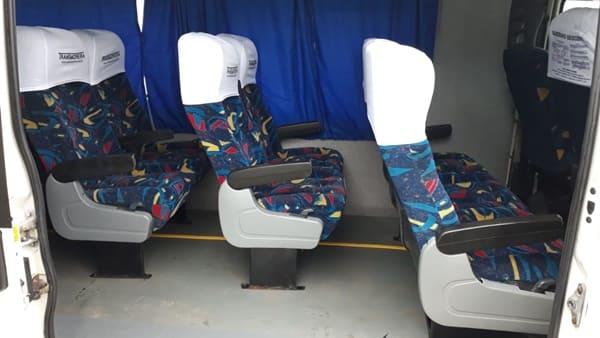 Ambulância antiga é transformada em Van para transporte de pacientes, em Major Vieira