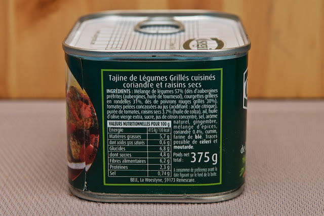Tajine de Légumes Grillés - coriandre et raisins secs - Cassegrain - conserve - food - manger