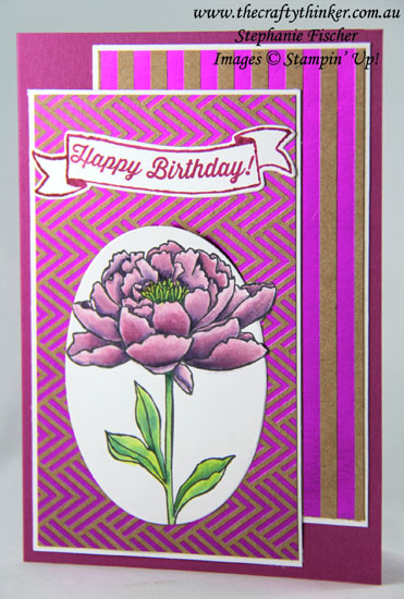 #thecraftythinker , #stampinup , #cardmaking , #outofthebox , You've Got This, Foil Frenzy, Out of the box technique, Stampin' Up Australia Demonstrator, Stephanie Fischer, Sydney NSW