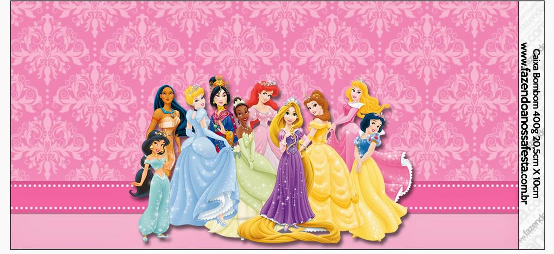 Princesas Disney: Etiquetas para Candy Bar para Imprimir Gratis ...