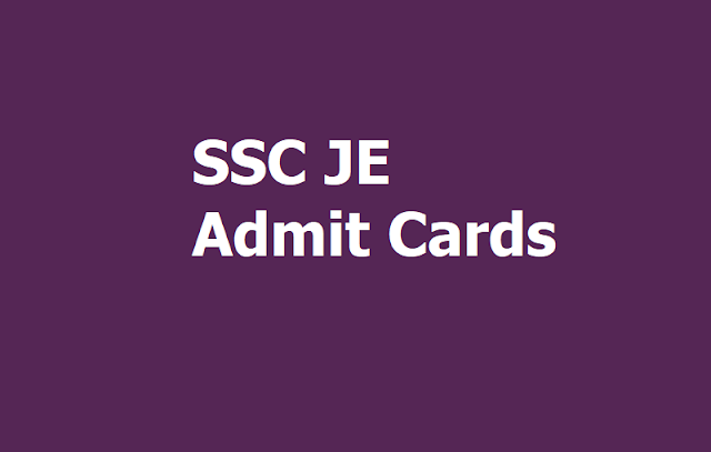 SSC JE Admit Card 2019 Released, How to Download