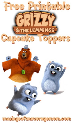 grizzly and the lemmings cupcake toppers