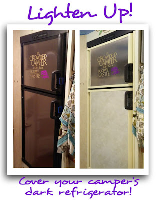 Great idea - Lighten up your dark refrigerator! Easy directions and FREE Silhouette Cut File!