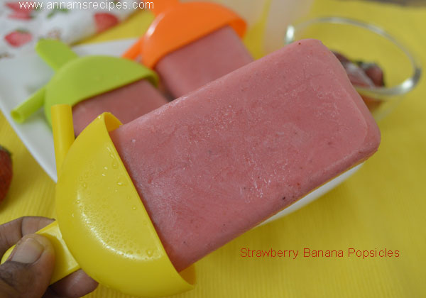 Strawberry Banana Popsicle