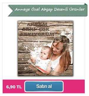 Anneye Özel Ahşap Desenli Ürünler