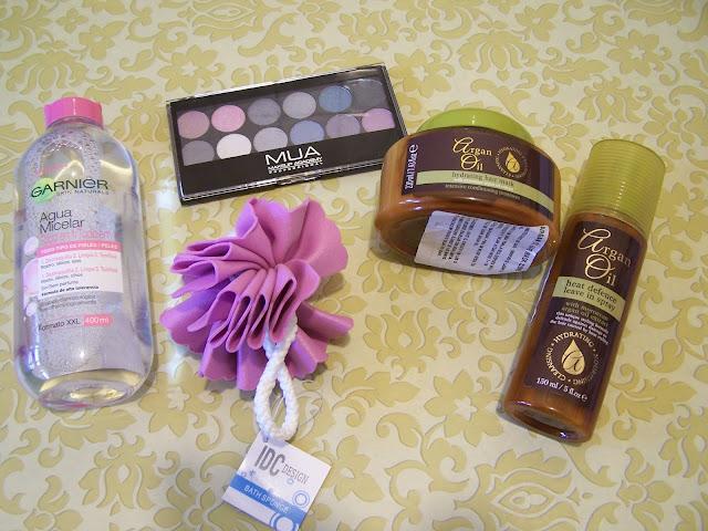 Água Micelar Garnier, Sombras MUA, Argan Oil Protetor de Calor, Mascara de cabelo