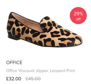Love The Sales Office Viscount Slipper Leopard Print