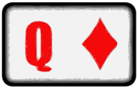 queen of diamonds playing card