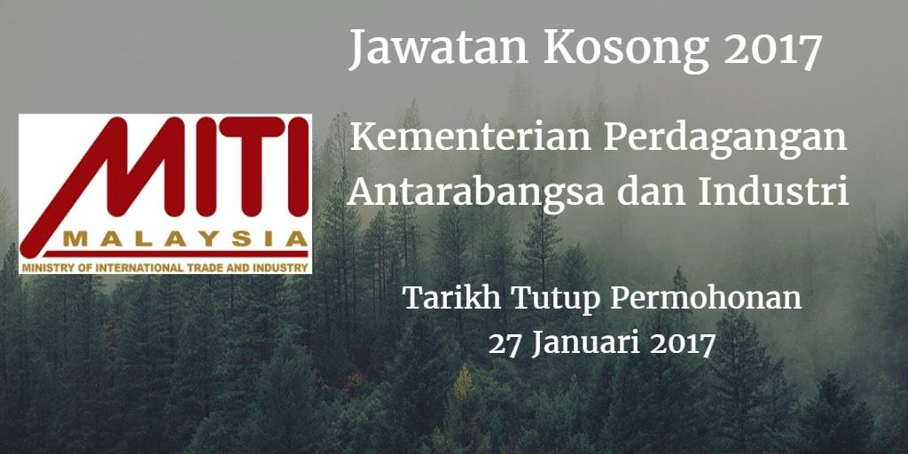 Jawatan Kosong MITI 27 Januari 2017