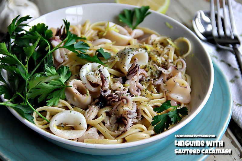 Linguine with Sauteed Calamari