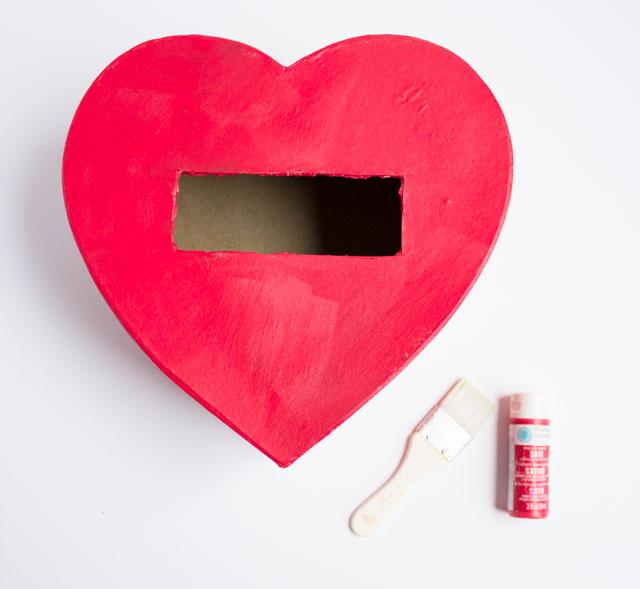 DIY PomPom Valentines Box  Design Improvised