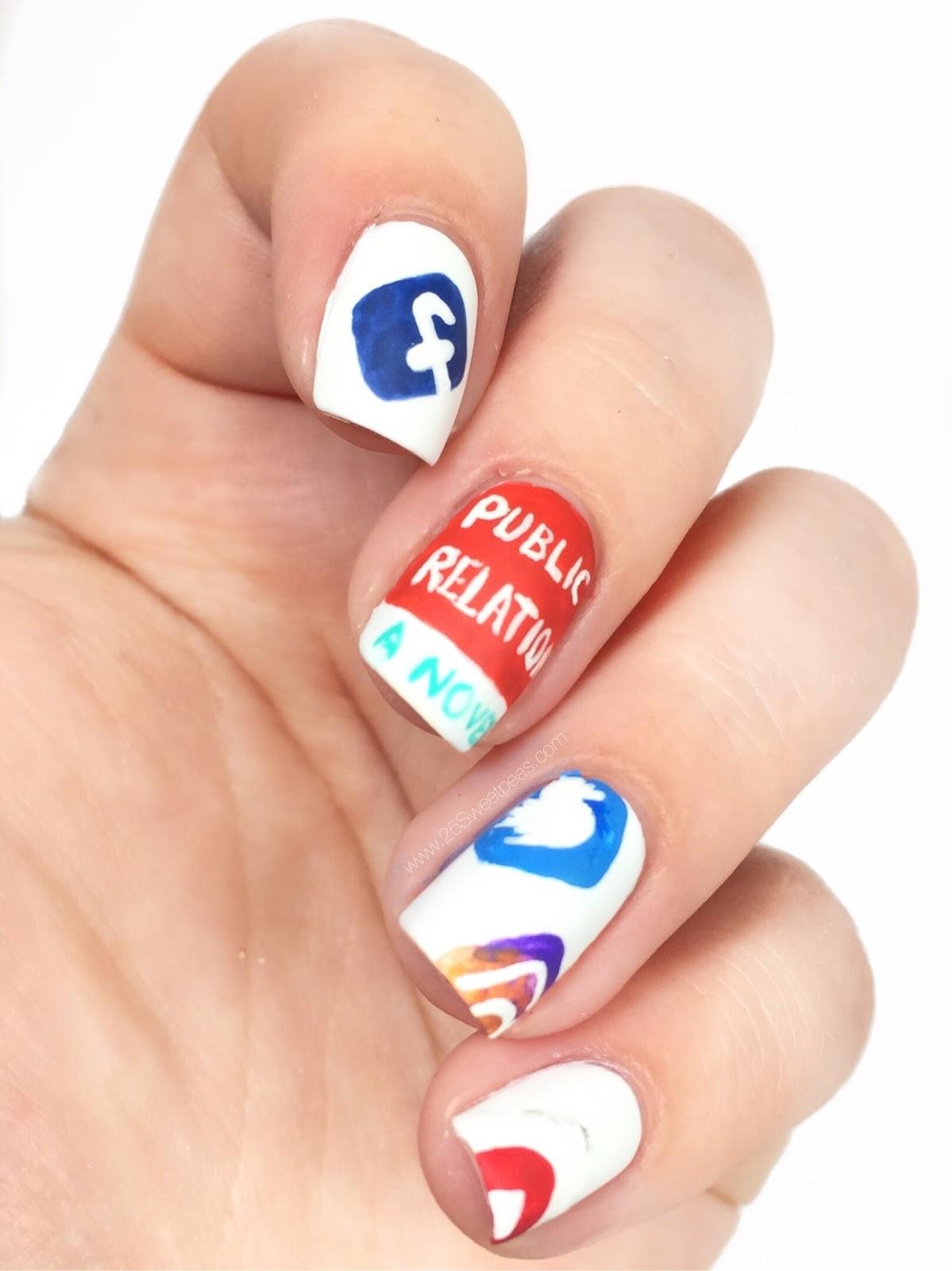 Public Relations Nail Art