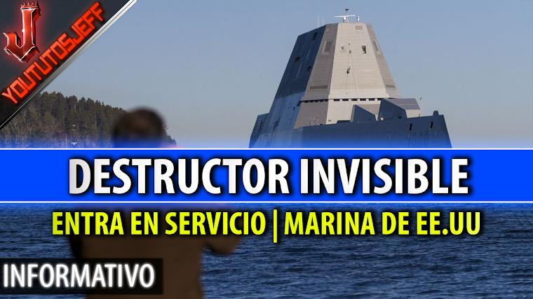 El nuevo destructor 'invisible' de la Marina de EE.UU