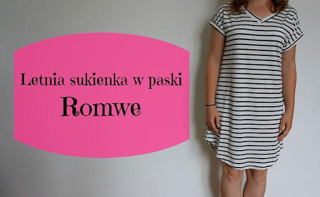 RECENZJA: Letnia sukienka w paski | Romwe