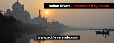 Rivers In India and Its Source - Important Key Points for SSC CGL, Railway, Banking, SBI PO, IBPS PO