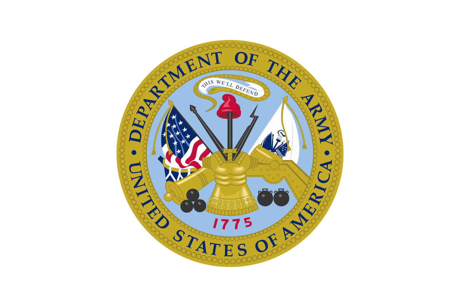 The gallery for --> Department Of The Army Logo