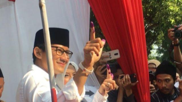 Jokowi-Maruf Unggul di TPS Sandiaga