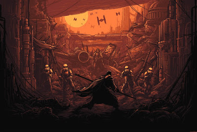 "Star Wars Rogue One ""I Am One With The Force, The Force Is With Me"" Regular Edition Screen Print by Dan Mumford x Dark Ink Art"