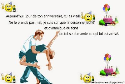 message anniversaire  en français