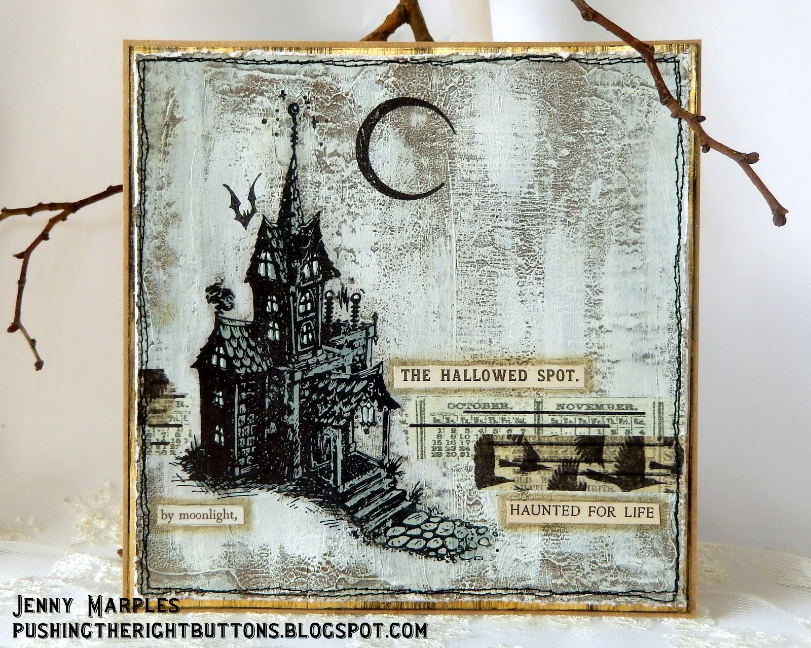 pushing the right buttons a tim holtz haunted house. Black Bedroom Furniture Sets. Home Design Ideas