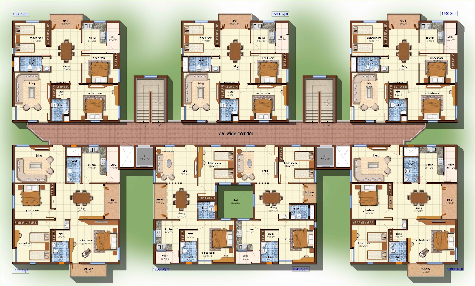 Omkara: Site Plan For MLA Colony