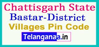 Bastar District Pin Codes in Chattisgarh State