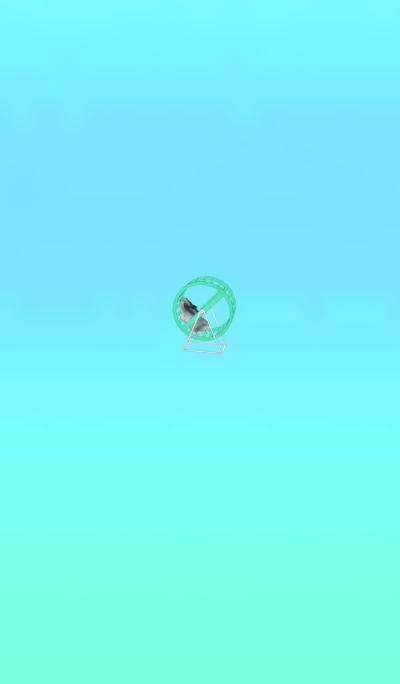 Running hamster light blue