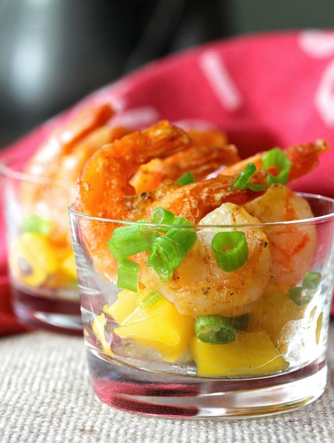 Spicy Citrus and Mango Shrimp Cocktail