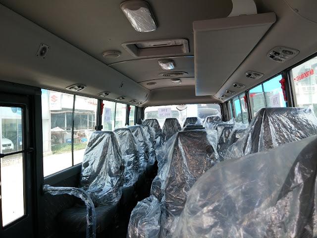 Hàng ghế 3-1 ô tô khách 29 chỗ Đồng Vàng