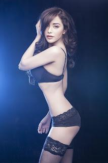 Sexy Hourglass figure of Beautiful Telugu Actress Angela Krislinxki in Bra Panties Lingerie WOW