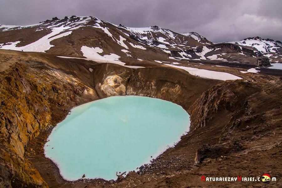 Caldera Askja, cráter Viti, Islandia