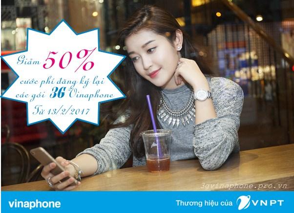 Vinaphone giảm 50% cước đăng ký lại gói 3G không gia hạn thành công