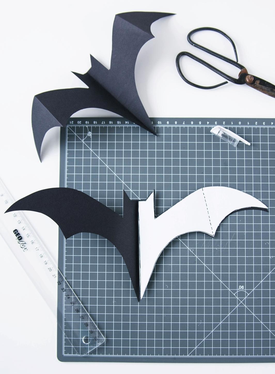 DIY Fledermäuse für Halloween