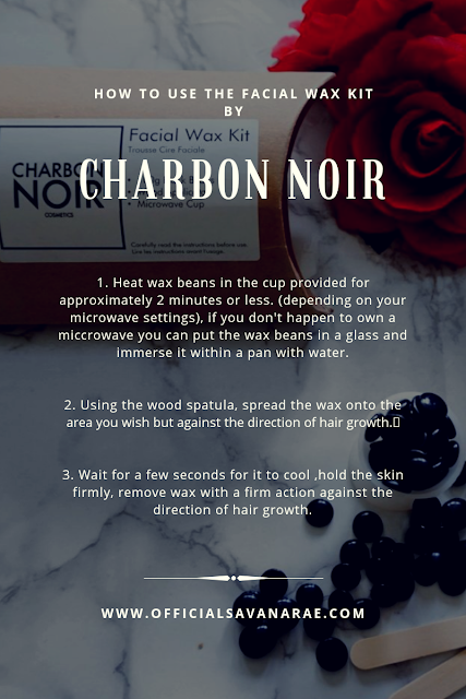HOW TO USE THE FACIAL WAX KIT BY CHARBON NOIR COSMETICS BLACK BEAN WAX