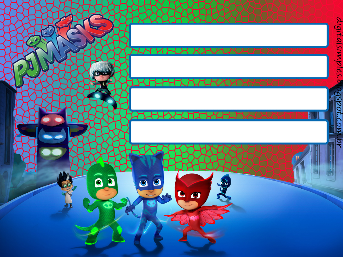 Captivating All Of These Fab PJ Masks Party Printables From Digital Simples