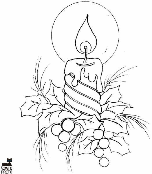 Desenhos Velas Para O Natal Para Pintar Desenhos Para Colorir