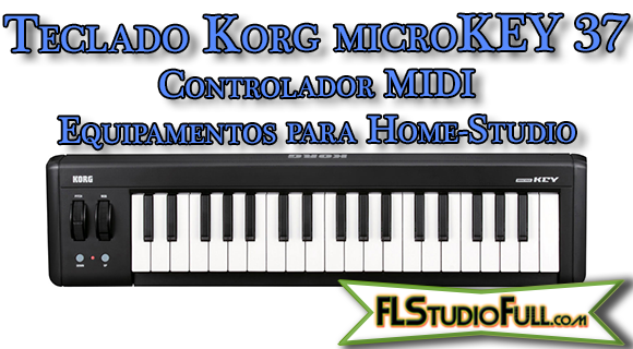 Teclado Korg microKEY 37 - Controlador MIDI - Equipamentos para Home-Studio