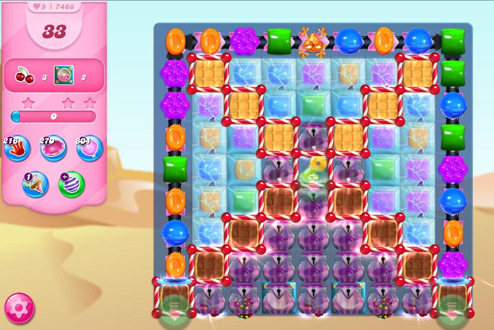 Candy Crush Saga level 7468