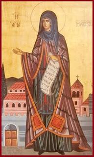 Οσία Μακρίνα η αδελφή του Μεγάλου Βασιλείου. Σήμερα η μνήμη της.