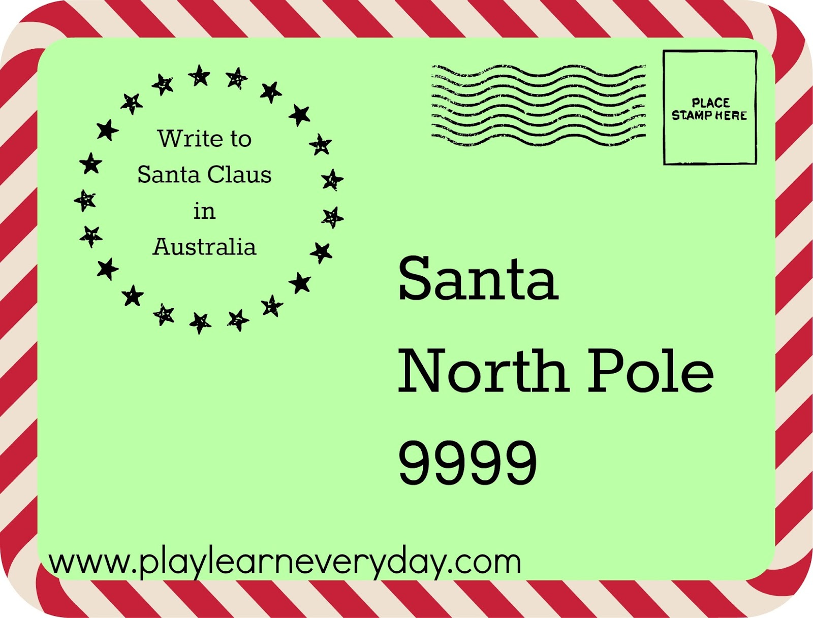 Writing Letters to Santa around the World Play and Learn Every Day