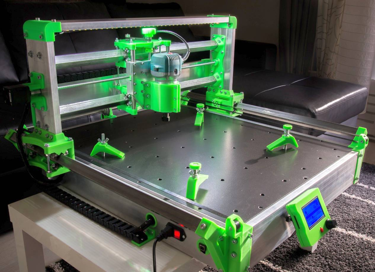 DIY 3D Printing: R-CNC DIY CNC Mill with 3D Printed Parts