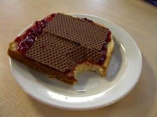 papel de chocolate - café da manhã na Dinamarca